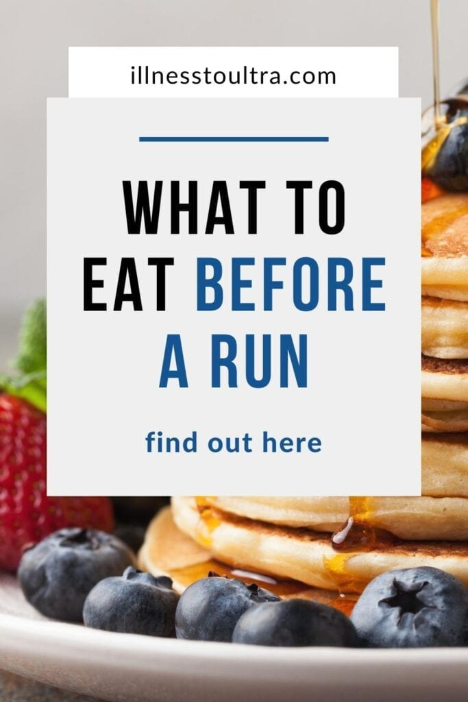 What to eat before a run pin
