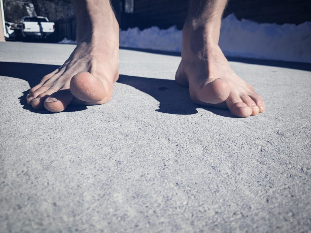 Barefoot running exercises